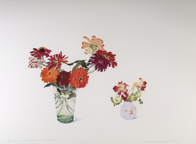 , 'Zinnias and Nasturtiums, Late Summer,' 2018-2019, Dowling Walsh