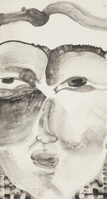 , 'Head: Smile 头像系列:微笑,' 1996Ink on paper 纸本水墨, Ink Studio