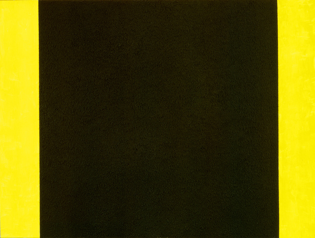 Peter Halley, 'Black Cell with Yellow Background', 1984, Galerie Andrea Caratsch