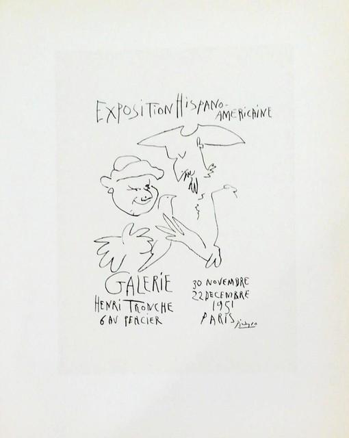 Pablo Picasso, 'Exposition - Hispano Americaine (pale)', 1959, Hidden