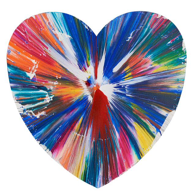 Damien Hirst, 'Heart Spin Painting (Created at Damien Hirst Spin Workshop)', 2009, Rago