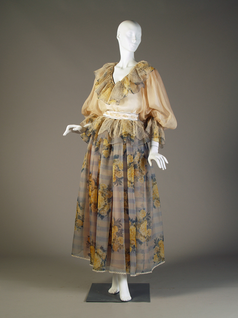 , 'Evening ensemble; blouse and skirt.,' 1983, de Young Museum