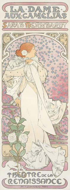 Alphonse Mucha, 'La Dame aux Camelias.', 1896, Rennert's Gallery