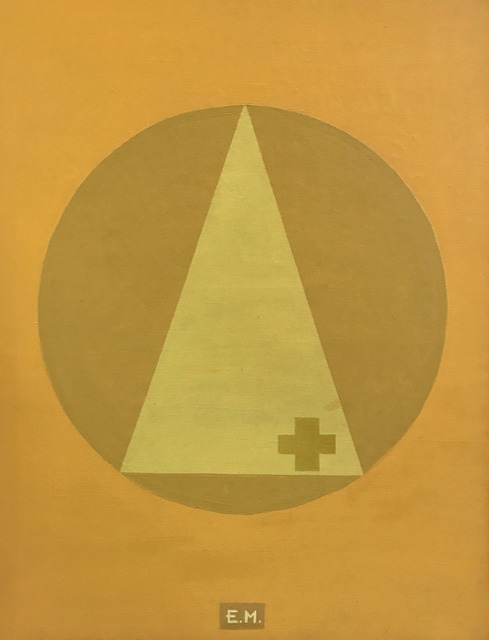 , 'Yelllow Cross on Yellow Triangle on Yellow Circle on Yellow Background, ,' 2000, LAMB Arts