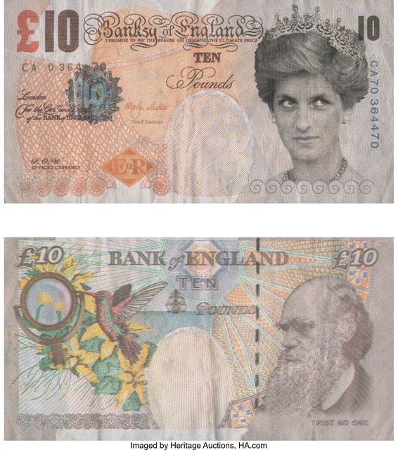 After Banksy, 'Di-Faced Tenner, 10 GBP Note', 2005, Heritage Auctions