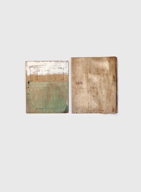 Serena Fineschi, 'Ci è mancato il tempo, non l'amore (dyptich)', 2020, Sculpture, Wood, varnish, water, Palazzo Monti