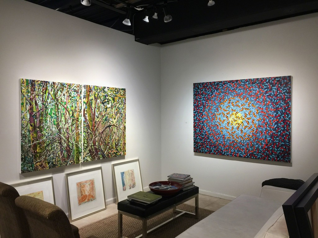 New to Us. September-October 2017. Lilian Garcia-Roig diptych, Tom Francis
