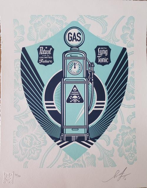 Shepard Fairey, 'Gas Pump Earth Crisis', 2016, AYNAC Gallery