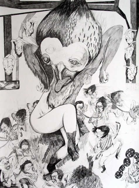 Chiaki Kamikawa, 'Dance of Rapture', 2009, Drawing, Collage or other Work on Paper, Graphite on paper, Japigozzi Collection
