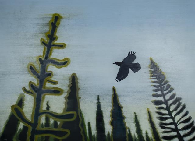 Mike Piggott, 'Raven in Pines', 2018, Tayloe Piggott Gallery