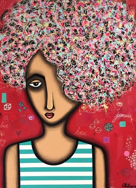 Philippe Guérin, 'Jamais Rouge', 2019, Painting, Acrylique, graphite, pastel à l'huile et époxy sur bois, Artêria