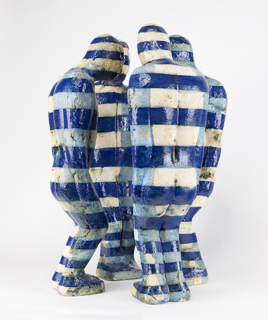 , 'Huddle with Blue Stripes,' 2012, Russo Lee Gallery