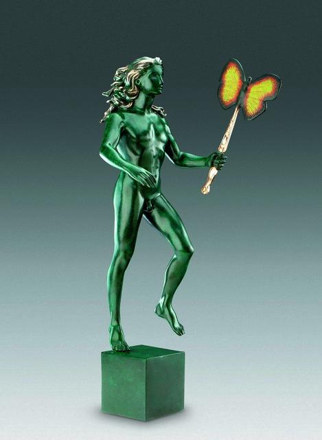 Salvador Dalí, 'Man With Butterfly', 1968, Sculpture, Bronze lost wax process, Dali Paris