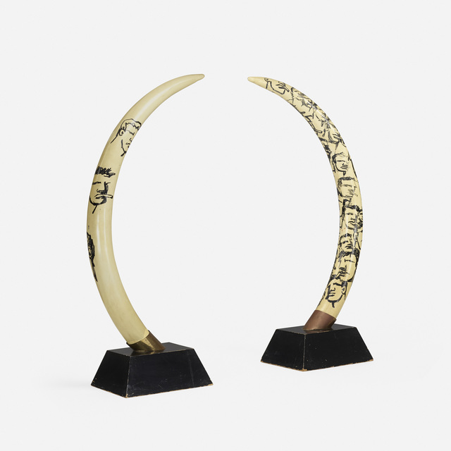 Robert Loughlin, 'Untitled (faux tusks, set of two)', Wright