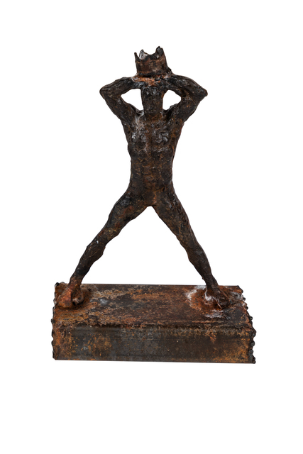 , 'Figurative Metal Sculpture Reminiscent of Basquiat,' ca. 1990, On Madison