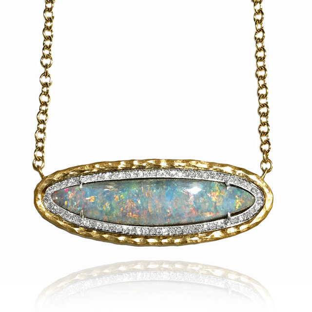 , 'Rainbow Opal Pave Diamond Gold Multilength Necklace,' 2015, Szor Collections