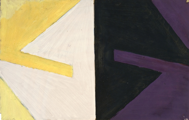 , 'Yellow into White: Violet into Black,' 1959, Flowers