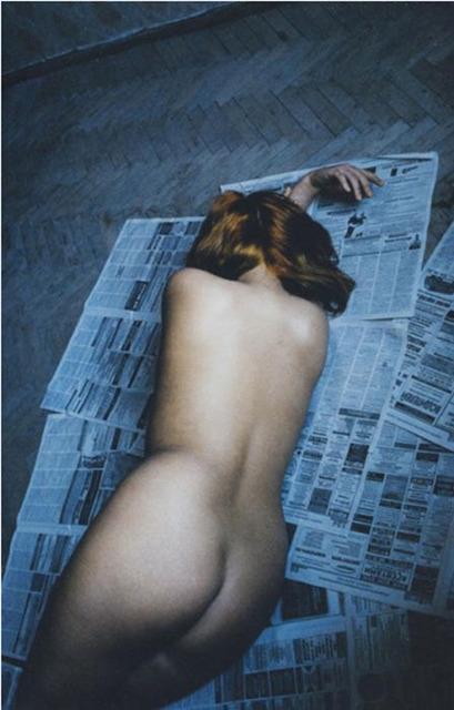 , 'Nu sur les journaux, Saint- Petersbourg, Russia,' 2002, Polka Galerie