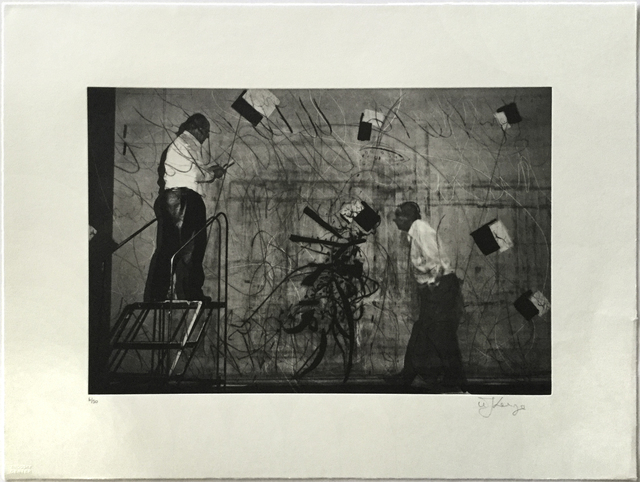 William Kentridge, '2 Kentridges with Flying Papers', 2010, Jim Kempner Fine Art