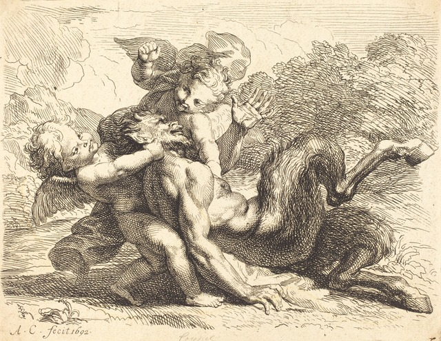 Antoine Coypel, 'Pan Overcome by Putti', 1692, National Gallery of Art, Washington, D.C.