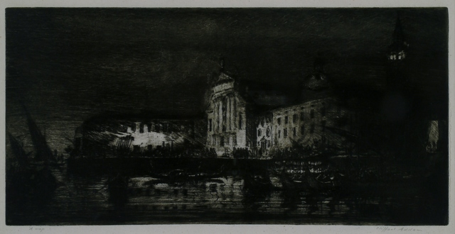 Clifford Isaac Addams, 'San Georgio: Nocturne, Venice', ca. 1914, Private Collection, NY