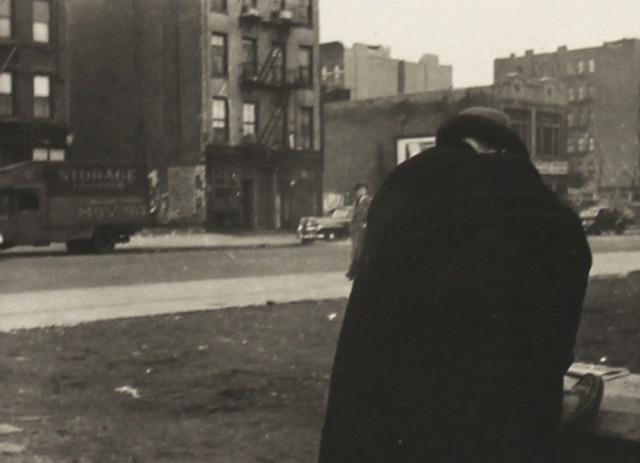 Helen Levitt, 'New York, Man Bent over in Cape', 1912-Printed 1940s, Art Market Liaison
