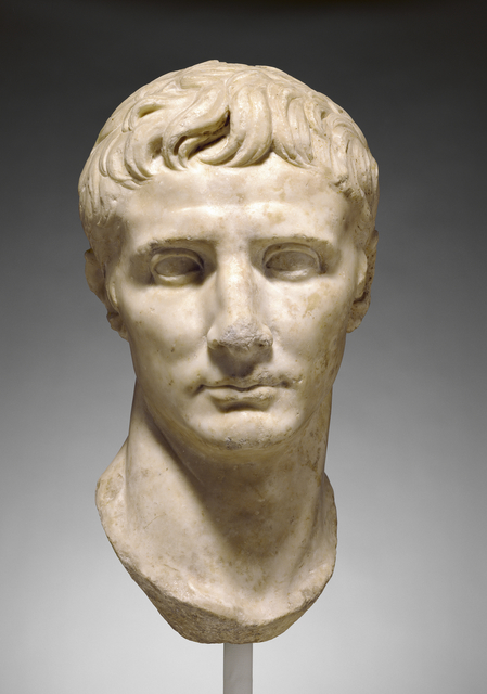 'Portrait Head of Augustus',  25 -1 B.C., J. Paul Getty Museum