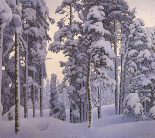 , 'Snowy Landscape,' ca. 1910, Antonacci Lapiccirella Fine Art
