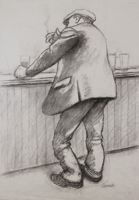 , 'Man smoking at bar,' ca. 1970, Castlegate House Gallery