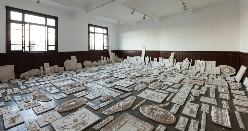 Installation view, Galata Greek Primary School, 14th Istanbul        Biennial. Photo by Sahir Ugur Eren.