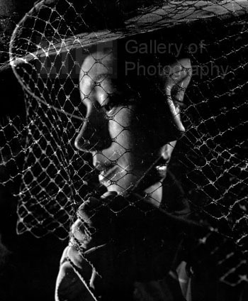 Gjon Mili, 'Double Exposure of Models Wearing Hat with Heavy Face Veil', 1946, Contessa Gallery
