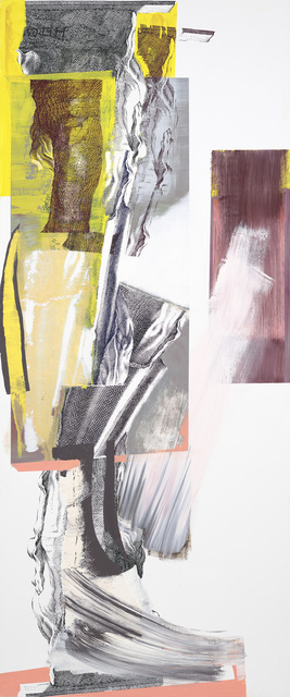 Pia Fries, 'parapylon 11', 2019, Painting, Oil and screenprint on wood, Mai 36 Galerie