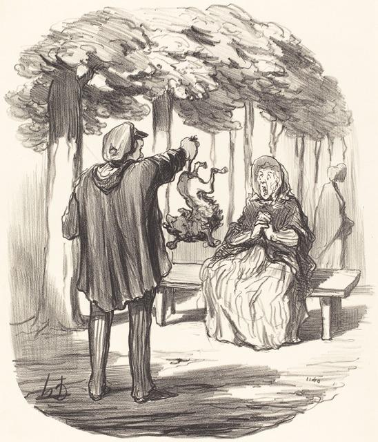 Honoré Daumier, 'C'est t'y a vous c'hien la?', 1847, National Gallery of Art, Washington, D.C.