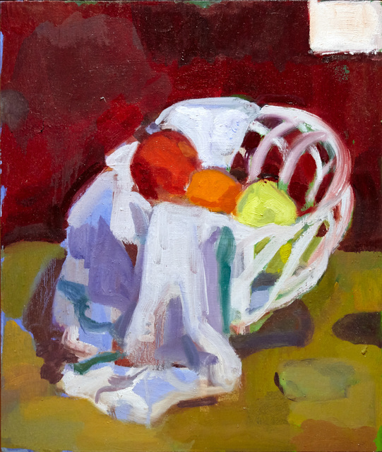 , 'Ceramic Basket and Fruit,' 2016, BCK Fine Arts Gallery at Montauk