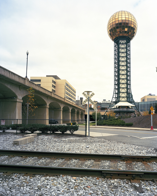 """Jade Doskow, 'Knoxville 1982 World's Fair, """"Energy Turns the World,"""" Sunsphere', 2010, Front Room Gallery"""