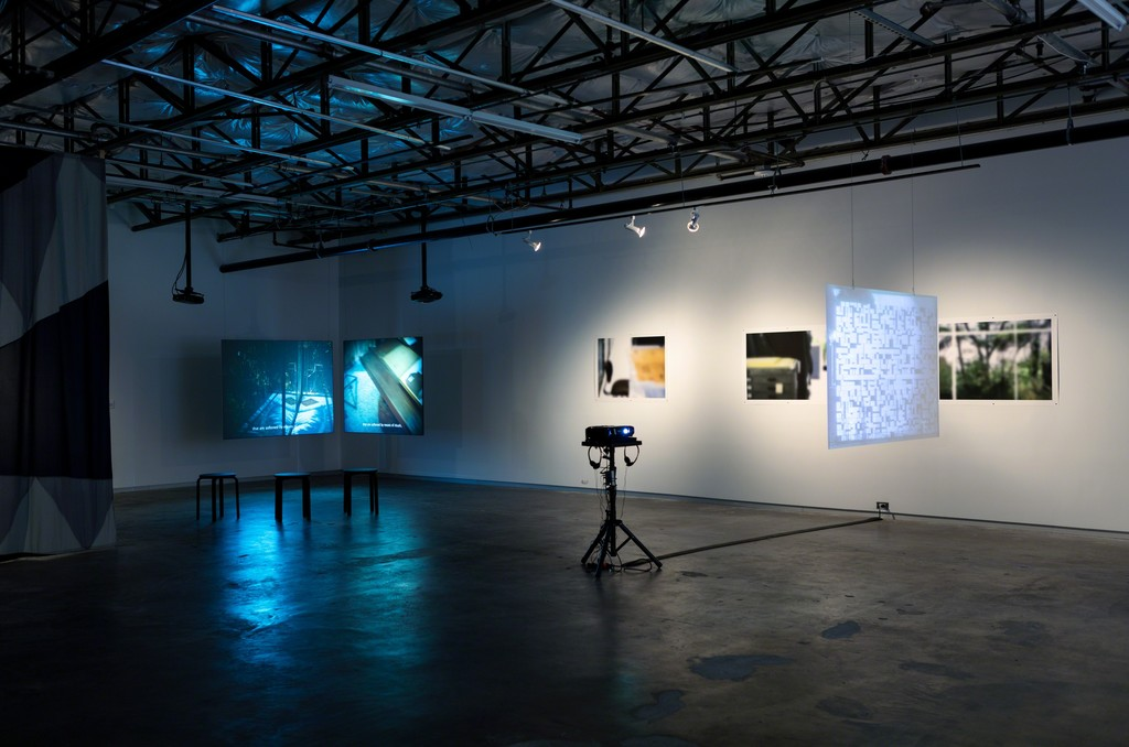 "Installation view of ""Past Projects for the Future"" at Dallas Contemporary, Dallas (2016). Image courtesy of Dallas Contemporary."
