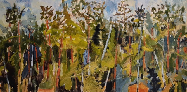 , 'Forest Sketch Study,' 2019, The Front Gallery