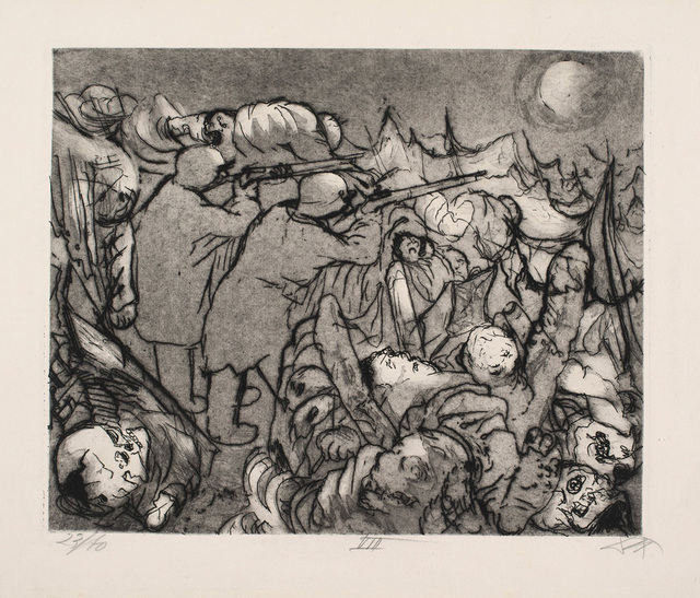 , 'Die Sappenposten haben Nachts das Feuer zu unterhalten,' 1924, Charles Nodrum Gallery