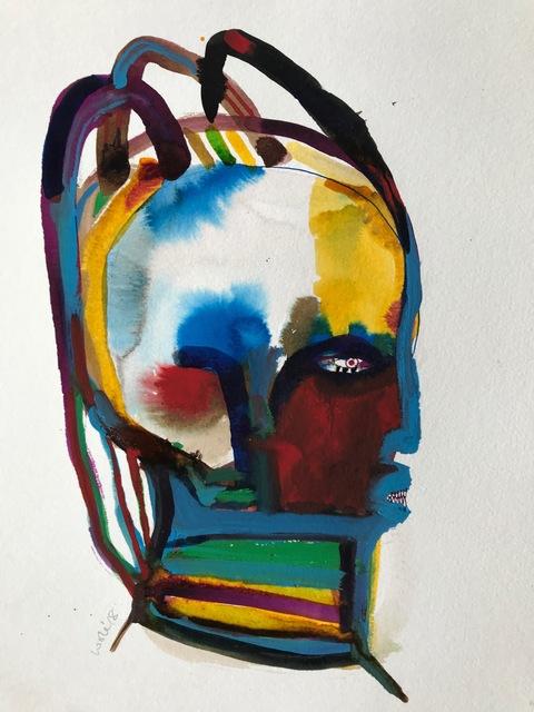 Wole Lagunju, 'Coif II ', 2017, Ed Cross Fine Art