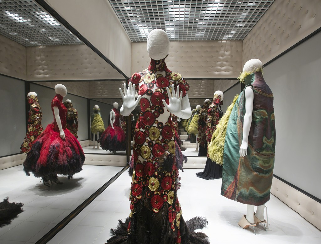 Installation view of 'Voss.' Alexander McQueen: Savage Beauty, at the Victoria and Albert Museum, London,  2015
