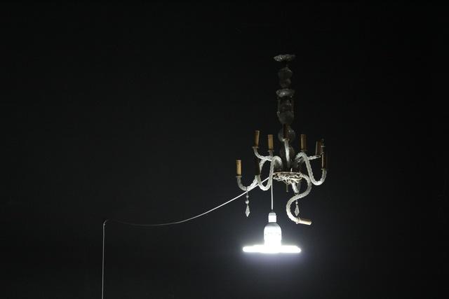 , 'Re-Enactment LB, Chandelier,' 2012, Akinci