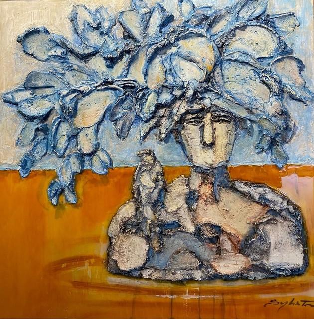 Sylvain Tremblay, 'Émergence à la mer Jaune', 2020, Mixed Media, Mixed Media on Board, Thompson Landry Gallery