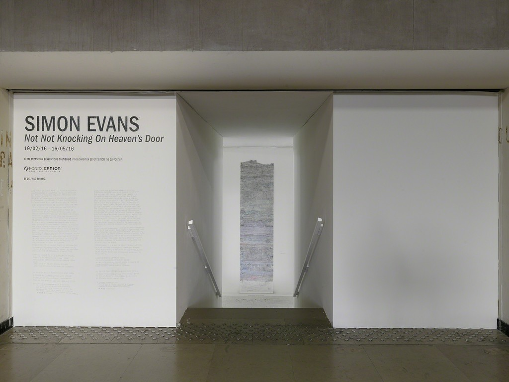 Exhibition view of Simon Evans, Not Not Knocking On Heaven's Door, Palais de Tokyo (19.02 – 16.05.2016). Courtesy of the artist & James Cohan Gallery (New York, Shanghai) Photo: André Morin.