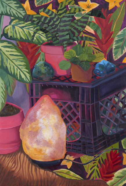 Anna Valdez, 'Salt Rock Lamp', 2019, Painting, Oil and acrylic on canvas, David B. Smith Gallery
