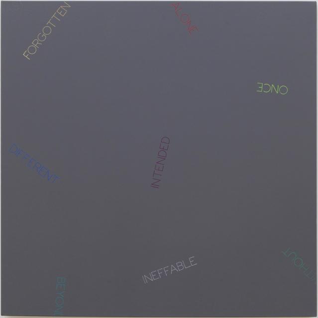 , 'Untitled (FORGOTTEN...DIFFERENT),' 2009, Sfeir-Semler