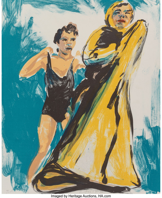Eric Fischl, 'Annie, Gwen, Lily, Pam and Tulip (woman in black, woman in robe)', 1986, Heritage Auctions