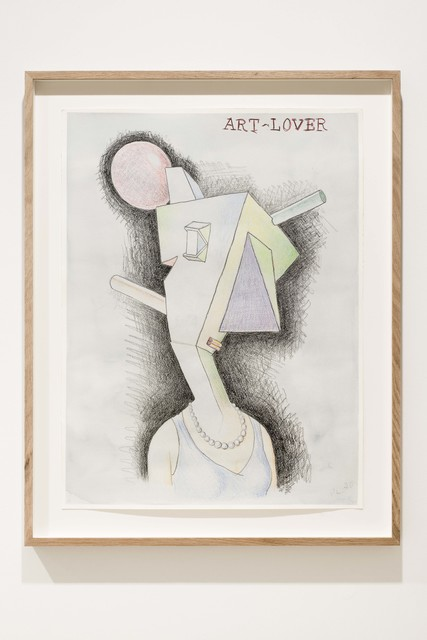 Peter Land, 'Art-Lover', 2020, Drawing, Collage or other Work on Paper, Coloured pencil, crayon and watercolour on paper, KETELEER GALLERY
