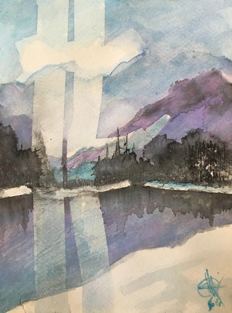 , 'Purple mountain ,' 2016, Lotus Art Gallery