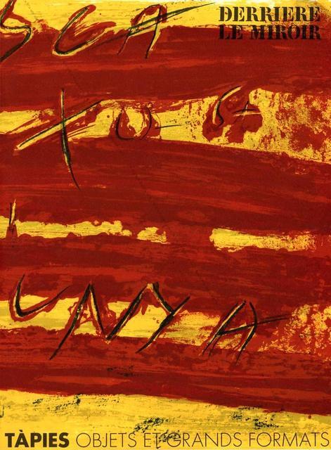 Antoni Tàpies, 'From 'Derrière le Miroir - Tàpies: Objets et Grands Formats'', 1972, Eames Fine Art