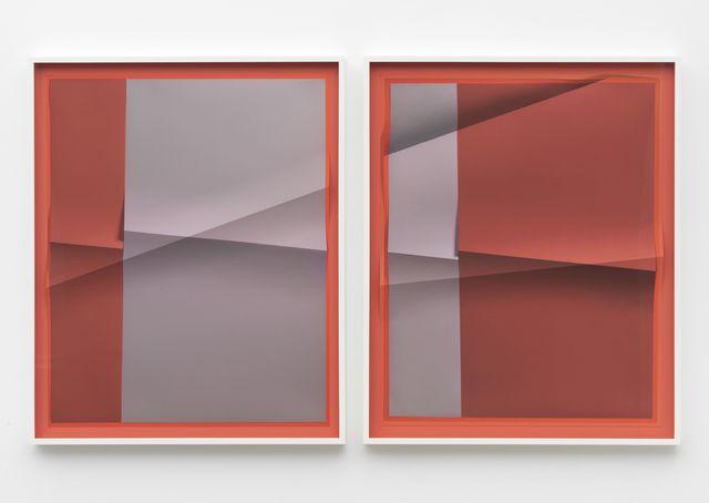 , 'Accumulator #13, 3 Colors #3564C, #9A96A3, #A36868,' 2017, Marianne Boesky Gallery